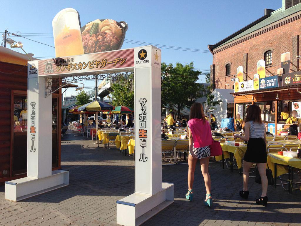 札幌で一番早いビアガーデン『サッポロファクトリー開拓使ジンギスカンビヤガーデン』のジンギスカンが美味しい!